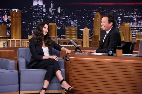 Mila Kunis and Jimmy Fallon