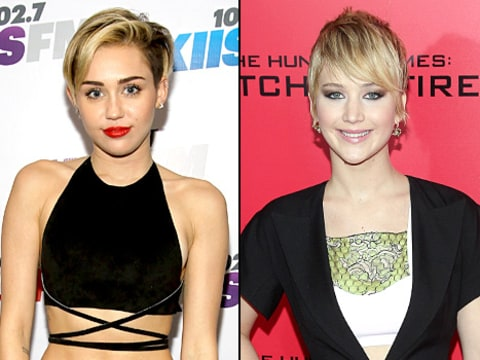 Miley Cyrus and Jennifer Lawrence
