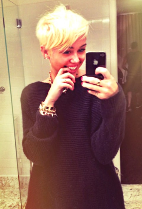miley after hair cut