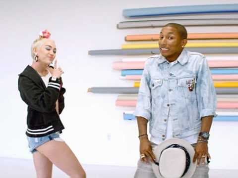 Pharrell Williams and Miley Cyrus music video