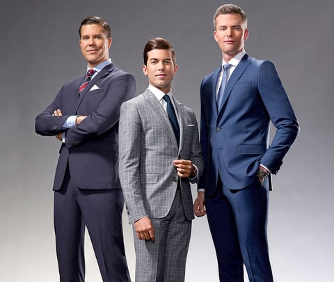 Fredrik Eklund, Luis Ortiz, and Ryan Serhant of Million Dollar Listing: New York.