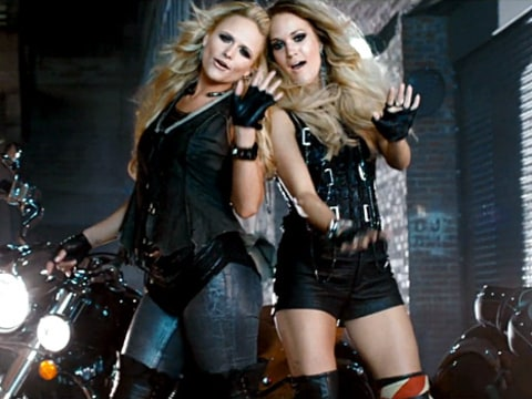 Miranda Lambert and Carrie Underwood - Something Bad music video