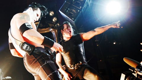 NEW YORK - MARCH 1:  Glenn Danzig (R) and Doyle von Frankenstein of punk band The Misfits perform onstage at Spirit March 1, 2005 in New York City.  (Photo by Scott Gries/Getty Images)