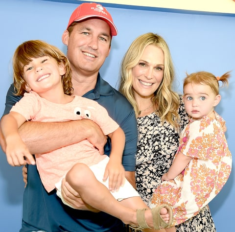 Scott Stuber, Brooks Alan Stuber, Scarlett May Stuber and Molly Sims attend The Children's Museum Of The East End (CMEE) 8th Annual Family Fair Fundraiser on July 23, 2016 in Bridgehampton, New York.
