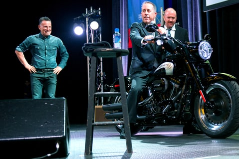 Bruce Springsteen Louis CK Seinfeld Auction Motorcycle Stand Up Madison Square Garden