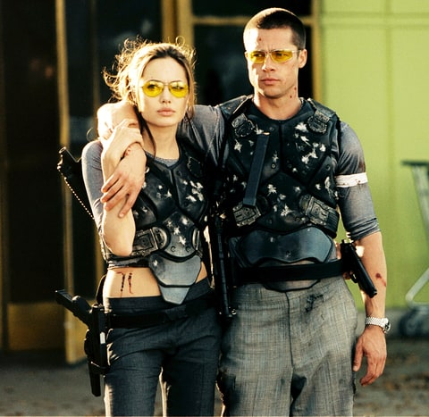 Angelina Jolie and Brad Pitt in Mr. & Mrs. Smith