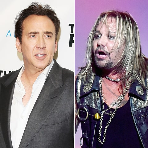 Nicholas Cage and Vince Neil