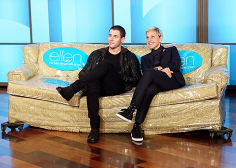 nick jonas on ellen