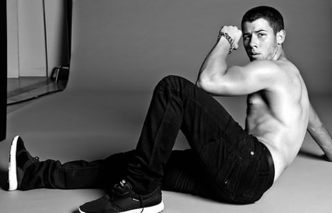 Nick Jonas on the floor