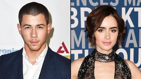 Nick Jonas and Lily Collins