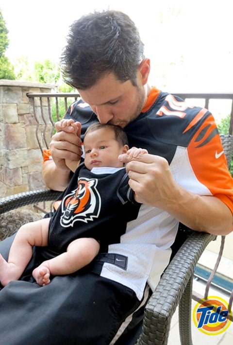 Nick Lachey and baby