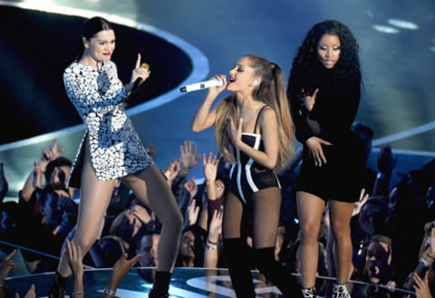 Jessie J, Ariana Grande, and Nicki Minaj perform