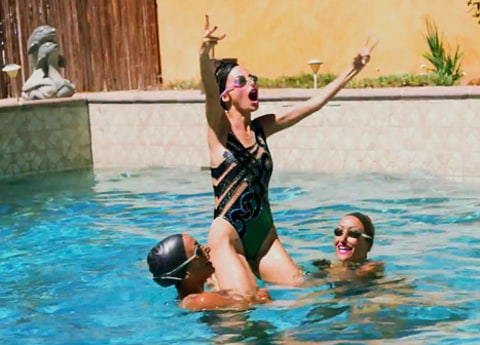 nicole richie syncronized swimming 4
