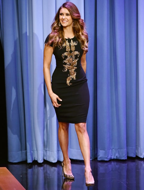 nina dobrev on fallon
