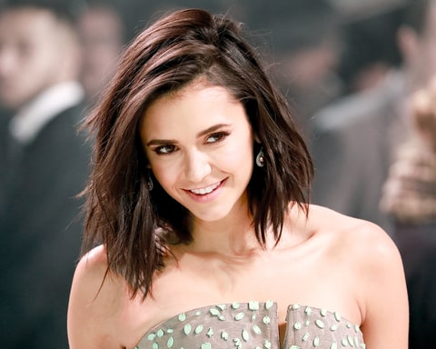Nina Dobrev attends the European premiere of