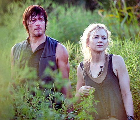 Emily Kinney and Norman Reedus - Walking Dead