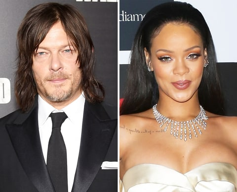 Norman Reedus and Rihanna