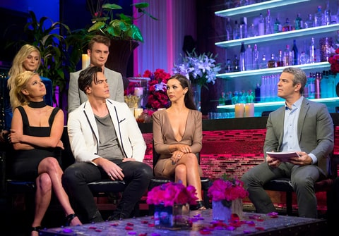 Ariana Madix, Lala Kent, Tom Sandoval, James Kennedy, Scheana Marie and Andy Cohen