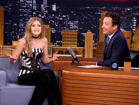 Gigi Hadid and Jimmy Fallon