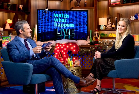 Andy Cohen and Jennifer Lawrence