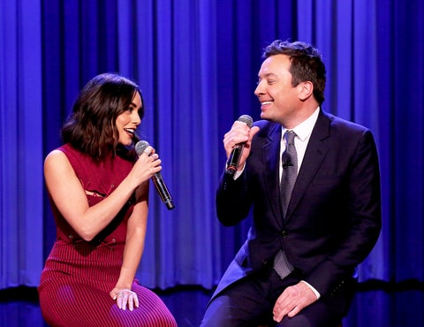 Vanessa Hudgens and Jimmy Fallon