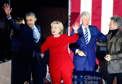 Hillary Clinton Barack Obama Bill Clinton Bon Jovi