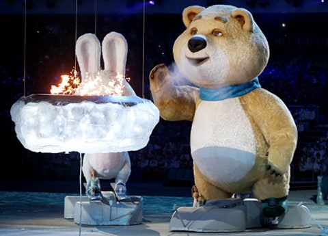 olympics closing ceremony bear