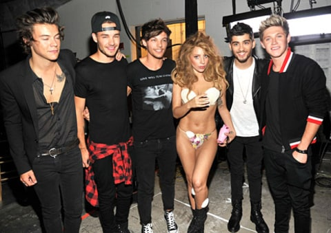 one direction and lady gaga