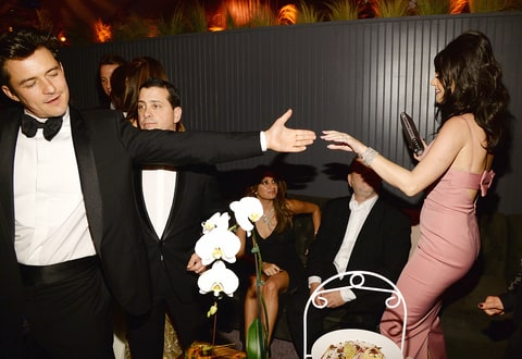 Orlando Bloom and Katy Perry at the Golden Globes 2016 after party