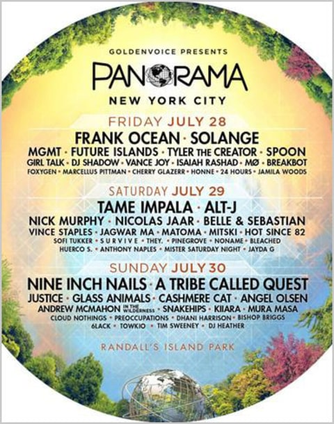 Panorama Announces 2017 Lineup Featuring Frank Ocean, Tame Impala, Nine Inch Nails