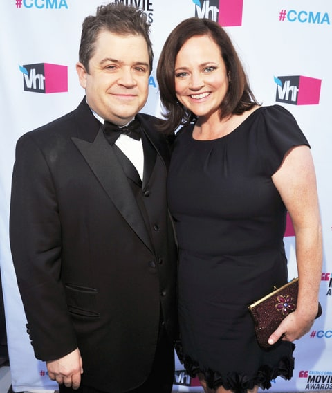Patton Oswalt and Michelle McNamara arrive at the 17th Annual Critics' Choice Movie Awards held at The Hollywood Palladium on January 12, 2012 in Los Angeles, California.