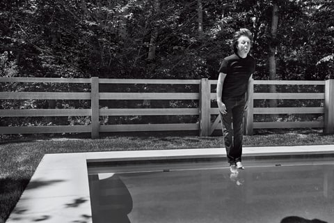 Paul McCartney Jumping in Pool Rolling Stone