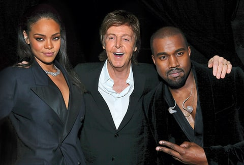 Kanye West Rihanna Paul McCartney
