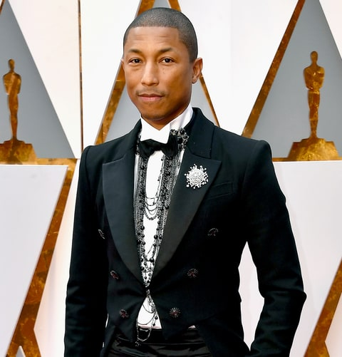 Pharrell Williams Receives Knitted Rockets For Triplets At Oscars 2017 W469027 on oscar awards best dressed