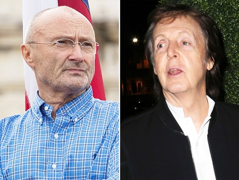 Phil Collins and Paul McCartney
