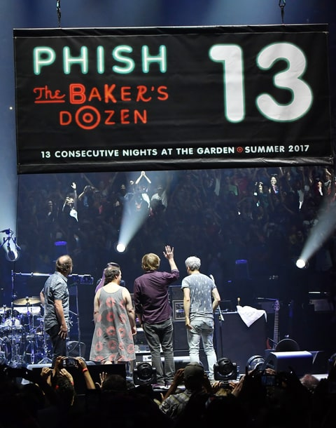 phish bakers dozen madison square garden trey mike page fish donuts banner
