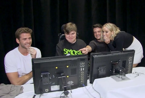 Liam Hemsworth and Josh Hutcherson helped carry out the prank.