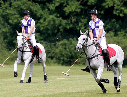 princes playing polo