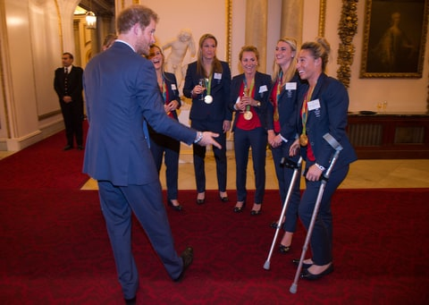 Prince Harry gets flirty with British Olympian Susannah Townsend