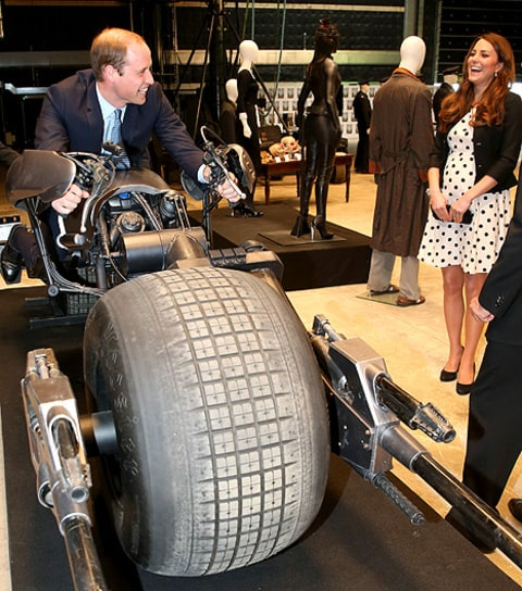 kate and wills batman bike