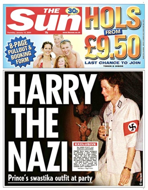prince harry nazi costume