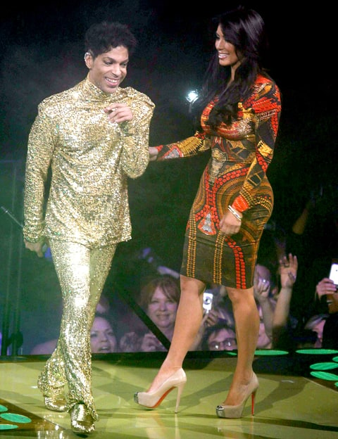 Prince tells Kim K 'get off the stage'. Picture: YouTube