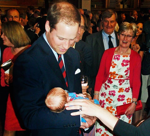 Prince William and baby