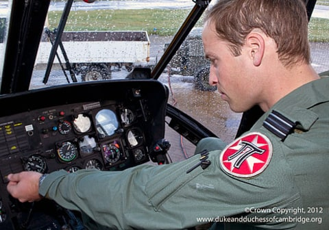 Prince William in plane