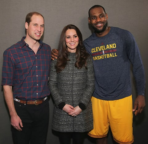 Prince William Kate Middleton Lebron James nice shot