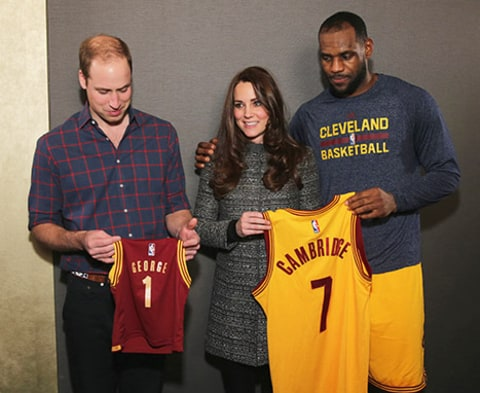 Prince William Kate Middleton Lebron James Jerseys