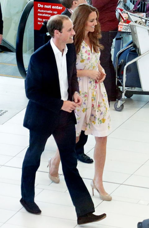 will and kate brisbane airport