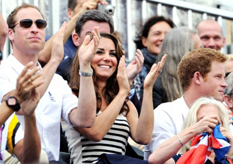 william and kate cheering on zara