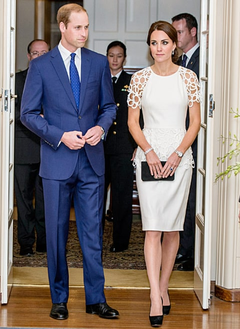 prince william and kate middleton at reception