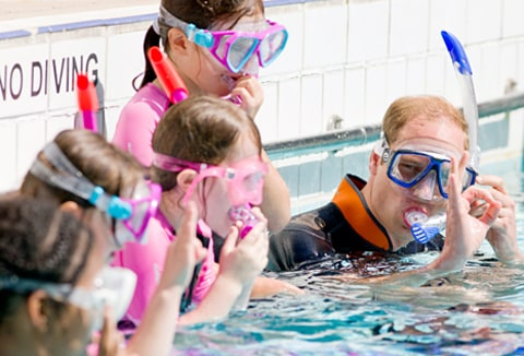 prince william snorkeling with kids